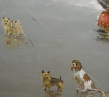 hondenspektakel op het ijs