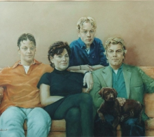Familie met labrador