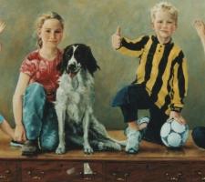 Pieter, Frederique, Maurits, Christine van Helsdingen