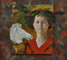 Horse lover with laurel wreath (sold)