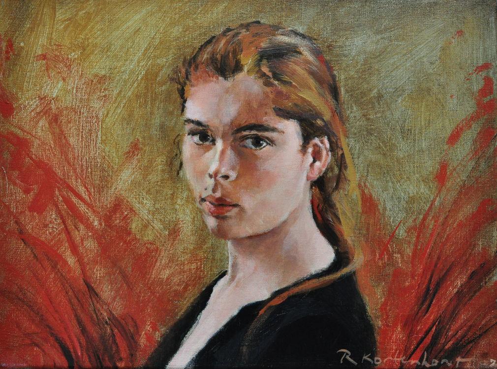 Kinderportretten Caroline portretten in opdracht portret in opdracht schilderij portrait painter schilderij kunstenaar kunstschilder Rudolf Kortenhorst kunstschilder schilder