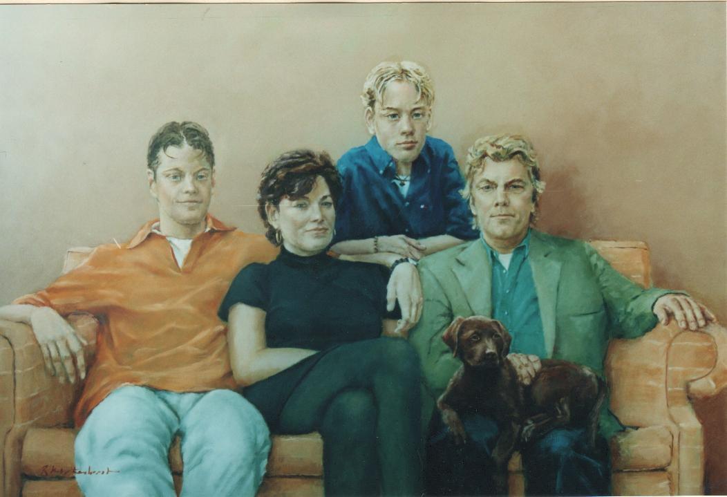 Familieportretten portretten in opdracht portret in opdracht familie schilderij