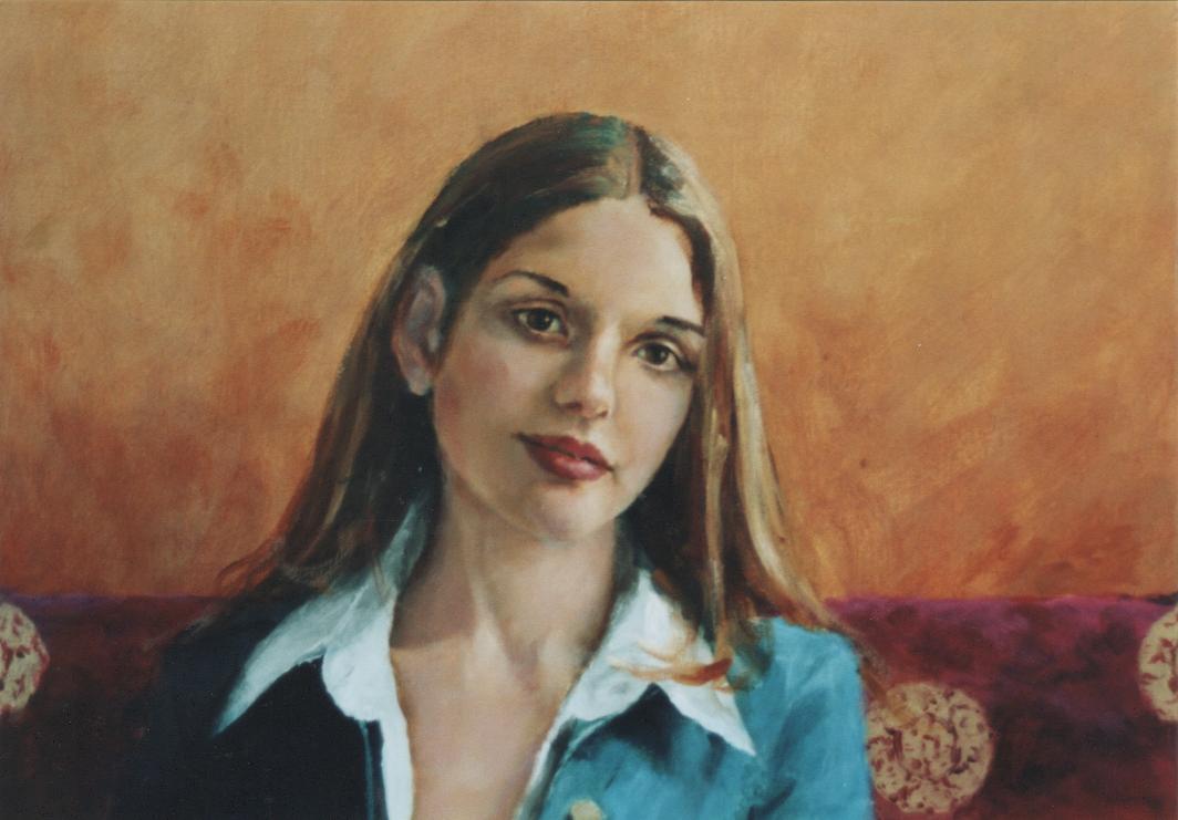 Flora portretten in opdracht portret in opdracht schilderij portrait painter schilderij kunstenaar kunstschilder Rudolf Kortenhorst kunstschilder schilder