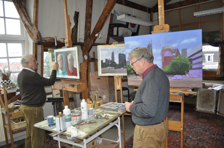 atelier kunstenaar schilder Den Haag Hendrick Bentinck, Jochem Oerlemans schilder kunstschilder