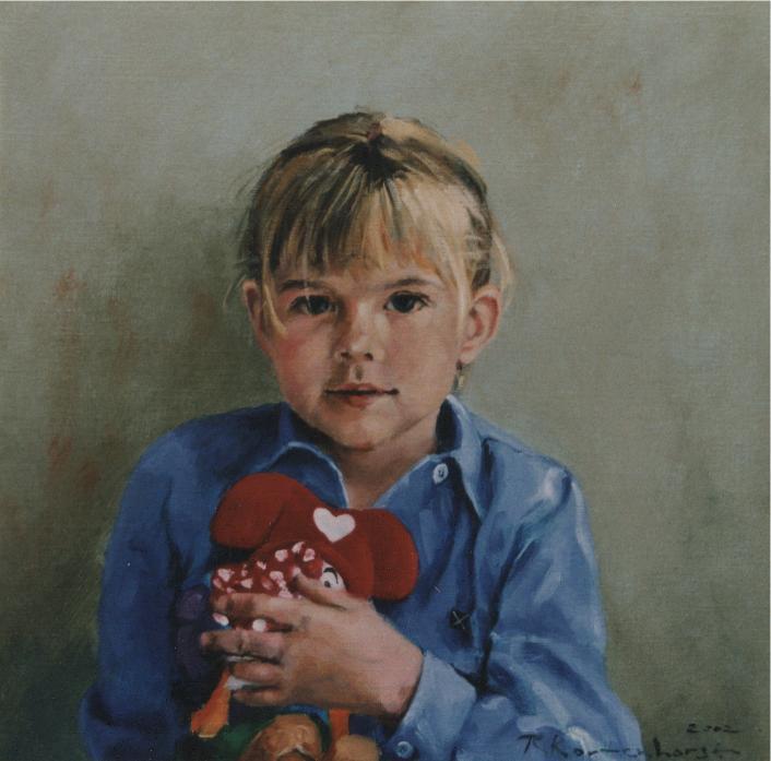 Kinderportretten portretten in opdracht portret in opdracht schilderij portrait painter schilderij kunstenaar kunstschilder Rudolf Kortenhorst kunstschilder schilder