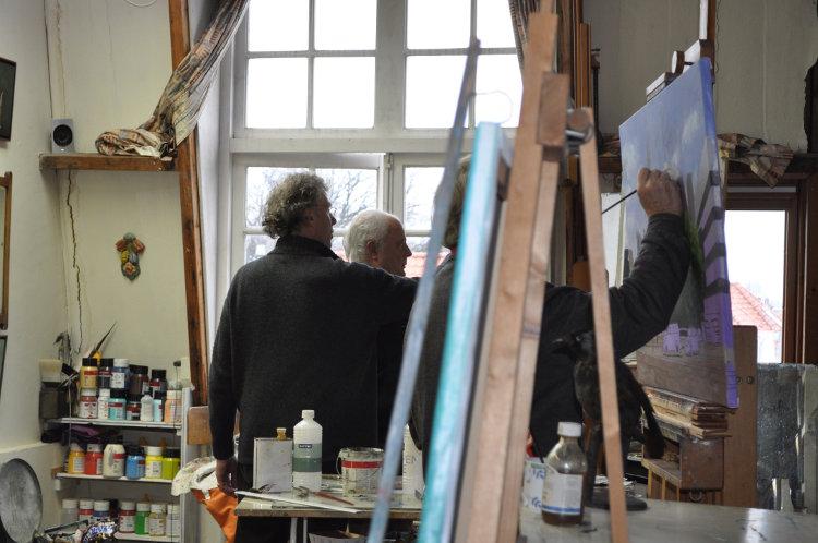 atelier kunstenaar schilder Den Haag schilder kunstschilder Rudolf Kortenhorst