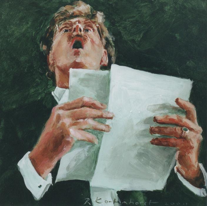 Rudolf Kortenhorst, zanger, Cecilia Choir, Portrait Painter,