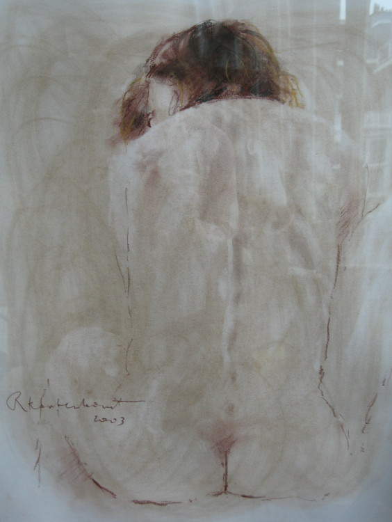 Sitting Nude 10 Conté on paper 50 x 60 cm €375
